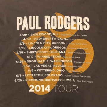 Paul Rodgers 2014 Tour Back