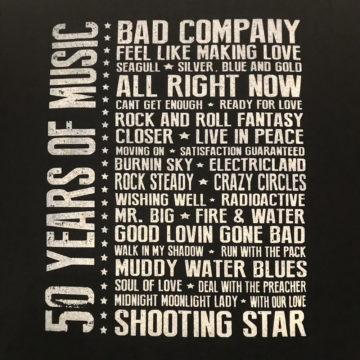 50 Years of Music T-shirt back